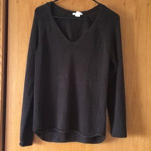 loose knit black sweater